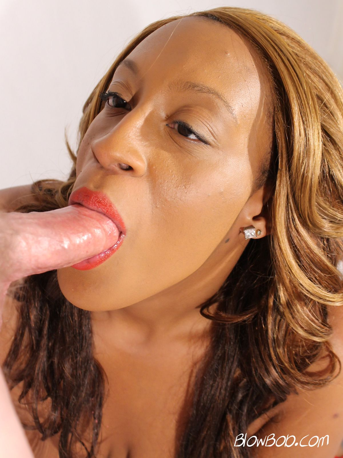 Ebony Tranny Sucks White Dick