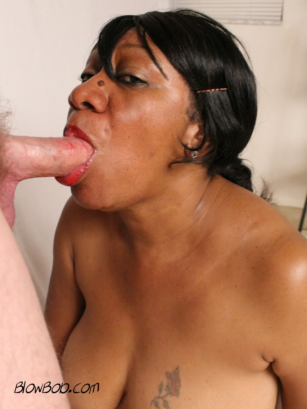 image Older woman sucks and fucks younger man
